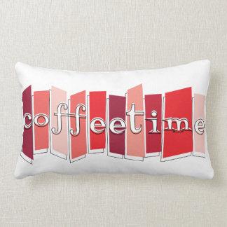 Atomic Style Retro Coffeetime Lumbar Pillow (Red)