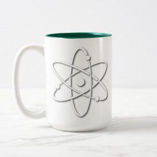 Atomic Symbol Two-Tone Coffee Mug