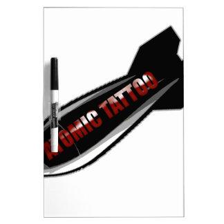 Atomic Tattoo Bomb Dry Erase Board