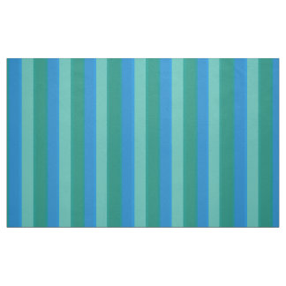 Atomic Teal and Turquoise Stripes Cotton Fabric