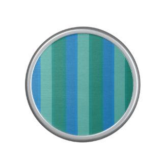 Atomic Teal & Turquoise Stripe Bumpster Speaker