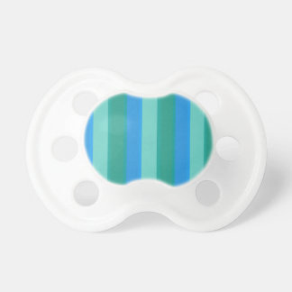 Atomic Teal & Turquoise Stripes Pacifier