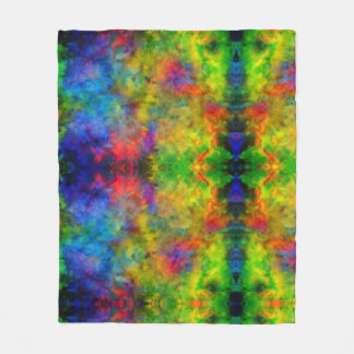 [Atomic Tie-Dye]  Psychedelic Rainbow Colors Fleece Blanket