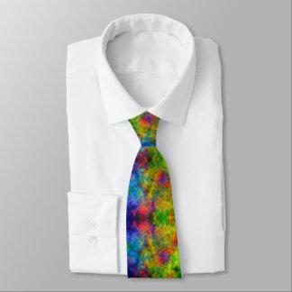 [Atomic Tie-Dye]  Psychedelic Rainbow Colors Tie