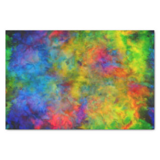 [Atomic Tie-Dye]  Psychedelic Rainbow Colours Tissue Paper