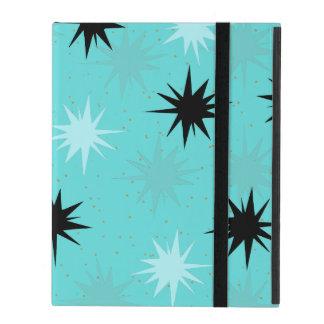 Atomic Turquoise Starbursts iPad 2/3/4 Case iPad Cover