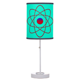 Atomic Turquoise Table Lamp