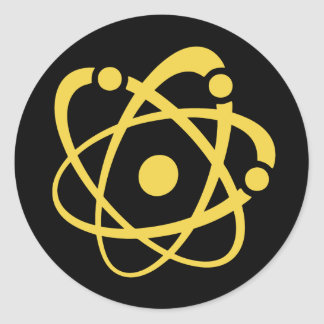 Atomic Wonk Classic Round Sticker