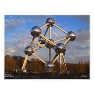 "Atomium Poster, 10"" x 7.5"" Poster"