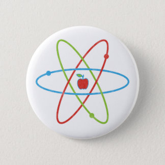 Atoms Apple 2 Inch Round Button