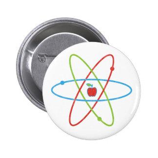 Atoms Apple 2 Inch Round Button