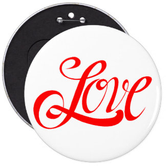attached to love 6 inch round button