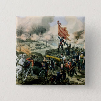 Attack at Pont de Neuilly and Courbevoie 2 Inch Square Button
