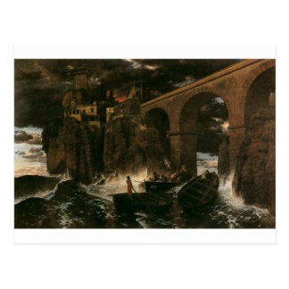 Attack by Pirates by Arnold Böcklin Postcard