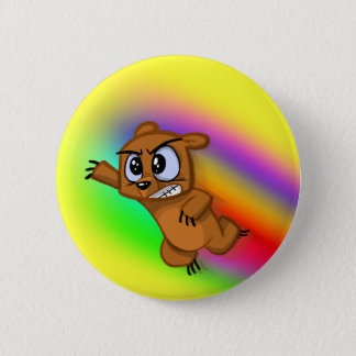 Attack Grizzly Ninja - Rainbow Blur! 2 Inch Round Button
