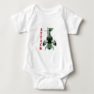 Attack Helicopter Baby Bodysuit