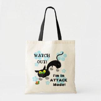 Attack Mode Cat Tote Bag