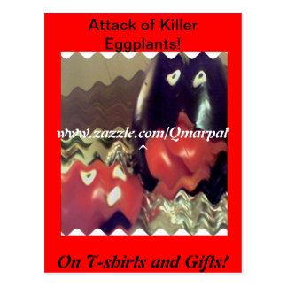 Attack of Killer Eggplant! Postcard