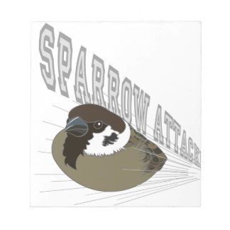 Attack of sparrow notepad