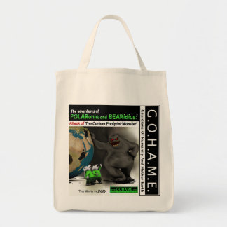 Attack of The Carbon Footprint Monster Tote Bag