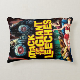 Attack of the Giant Leeches Decorative Pillow
