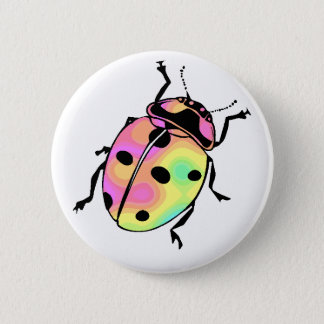 Attack of the Psychedelic Ladybug Round 2 Inch Round Button