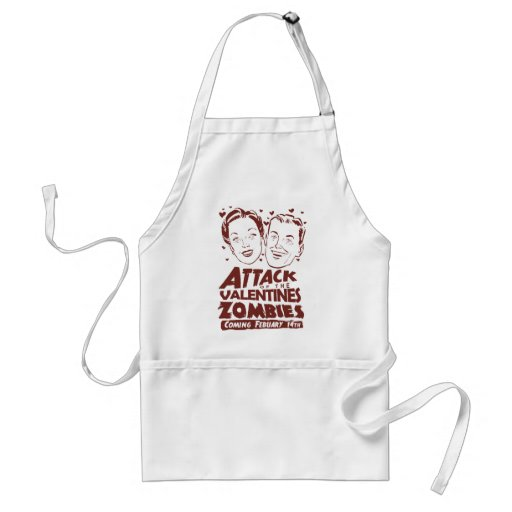 Attack of the Valentines Zombies Aprons