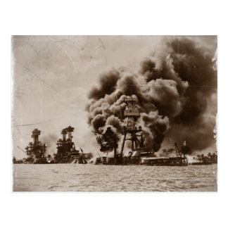 Attack on Pearl Harbor Postcard