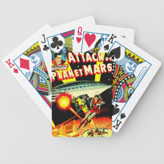 Attack on Planet Mars Bicycle Playing Cards