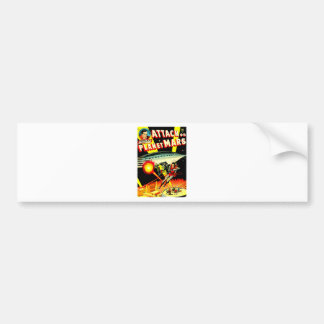 Attack on Planet Mars Bumper Sticker