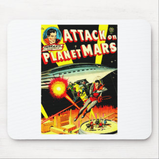 Attack on Planet Mars Mouse Pad