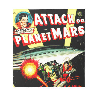 Attack on Planet Mars Notepad