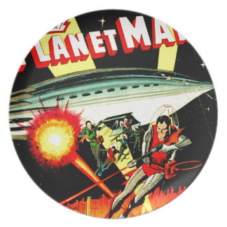 Attack on Planet Mars Plate