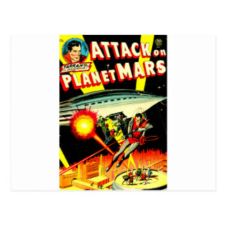 Attack on Planet Mars Postcard