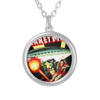 Attack on Planet Mars Silver Plated Necklace
