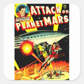 Attack on Planet Mars Square Sticker