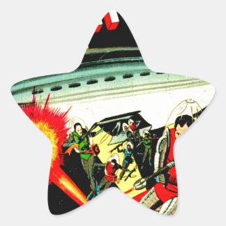 Attack on Planet Mars Star Sticker