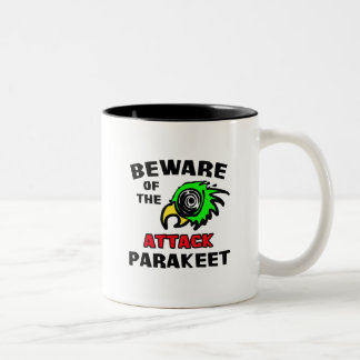 Attack Parakeet Two-Tone Coffee Mug