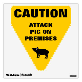 Attack Pig Wall Decal