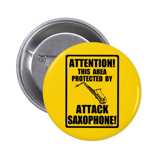 Attack Saxophone Button