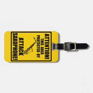Attack Saxophone Luggage Tag
