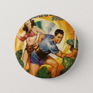 Attacked by Lizards on Mars 2 Inch Round Button