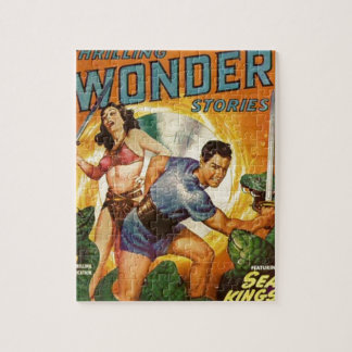 Attacked by Lizards on Mars Jigsaw Puzzle