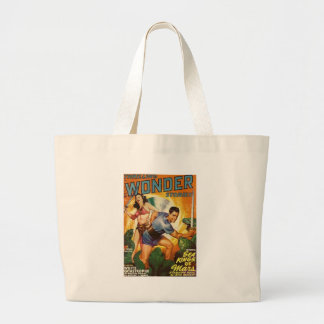 Attacked by Lizards on Mars Large Tote Bag