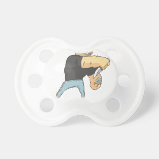 Attacking Dangerous Criminal Outlined Comics Style Pacifier