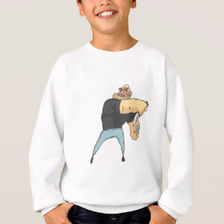 Attacking Dangerous Criminal Outlined Comics Style Sweatshirt