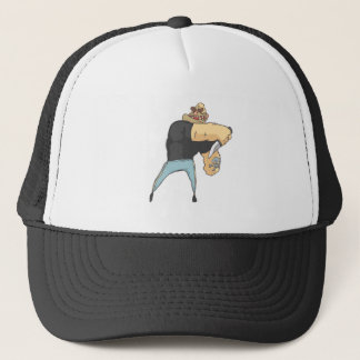 Attacking Dangerous Criminal Outlined Comics Style Trucker Hat