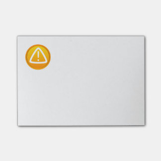 Attention Caution Symbol Post-it® Notes