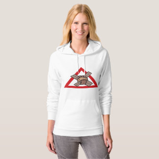 Attention Crossing Womens Hoodie