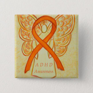 Attention Deficit Hyperactivity Disorder (ADHD)Pin 2 Inch Square Button